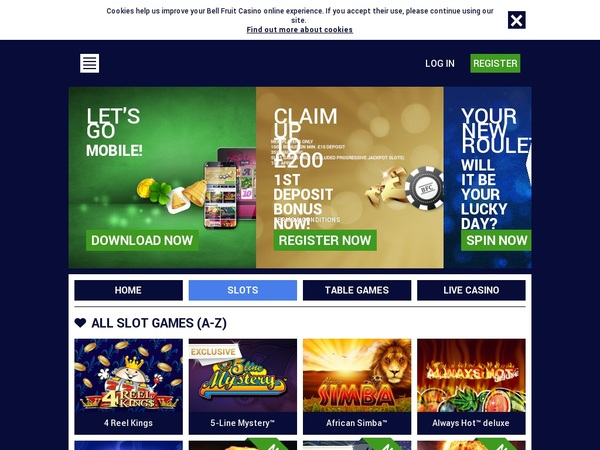 Bell Fruit Casino Opening Offer