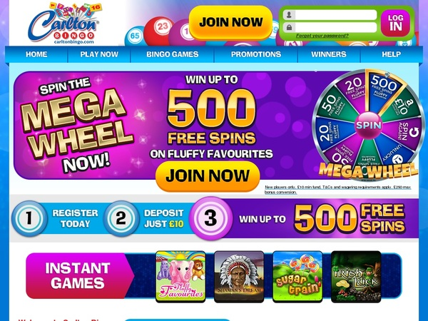 Carlton Bingo Welcome Bonus No Deposit