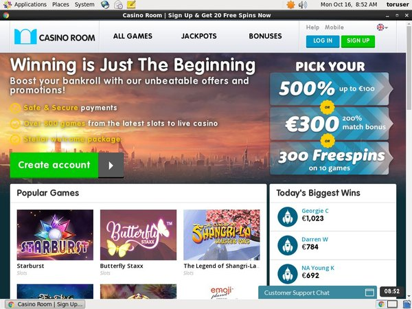 Casinoroom Sign Up Promo
