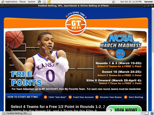 GT Bets March Madness Free Spins Code