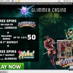 Glimmer Casino Account Bonus
