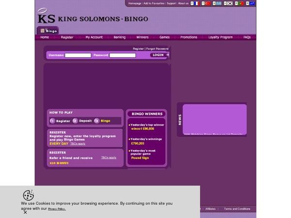 KS Bingo Visa Card