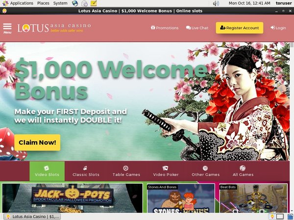 Lotus Asia Casino Account