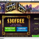 New Bingocafe Account