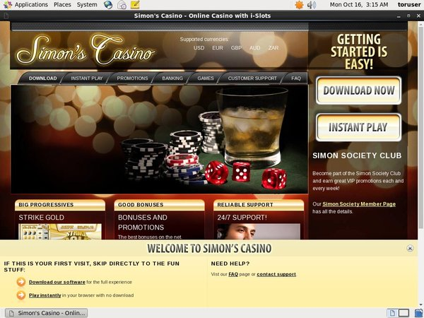 Simon Says Casino Sign Up Code