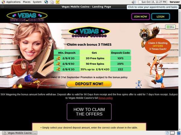 Vegasmobilecasino New Customer