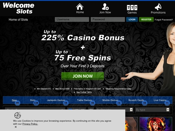 Welcome Slots Matching Bonus