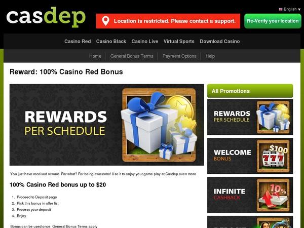 Casdep No Deposit Needed