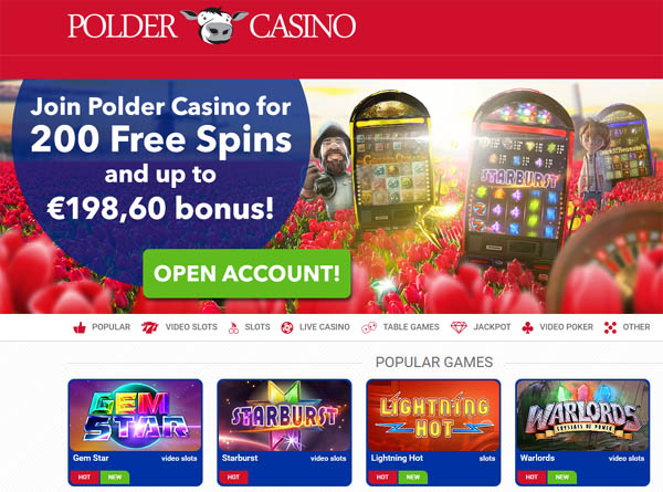 Poldercasino Pay By Options