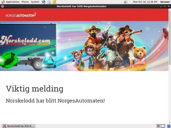 Free Bet Norgesautomaten