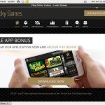 Luckygames Sign Up Promo