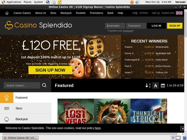 Casinosplendido Bet Bonus