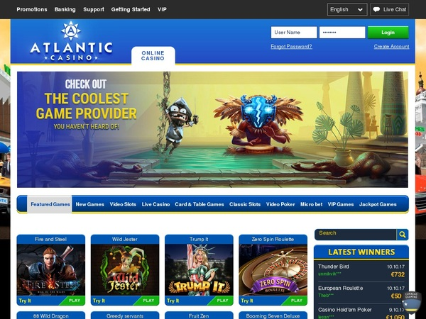 Atlantic Casino Fast Bank Transfer