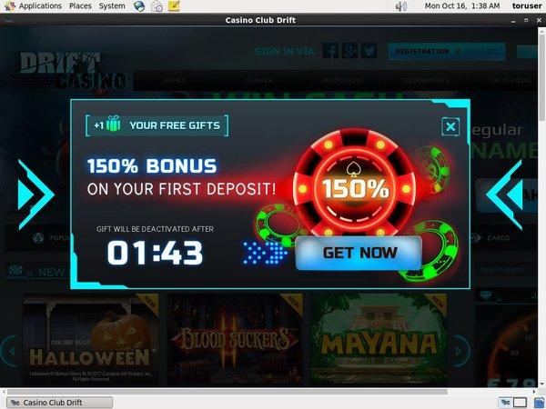 Drift Casino Registar