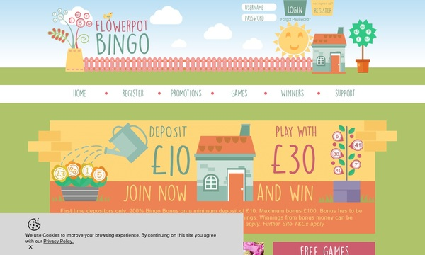 Register Flower Pot Bingo