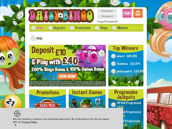 Daisybingo Website