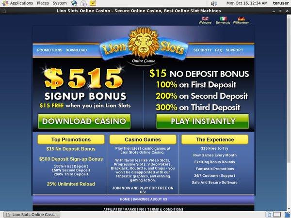 Lionslots Make Deposit