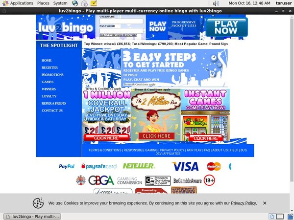 Luv2bingo Online Slots