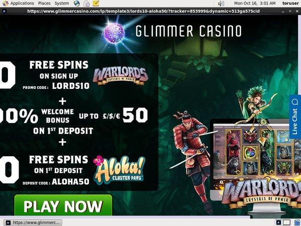 Glimmer Casino Promotion Code