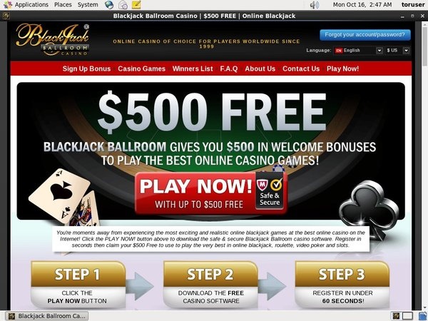 Open Blackjackballroom Account