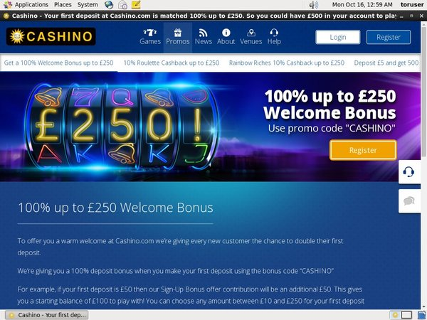 Cashino Fast Bank Transfer