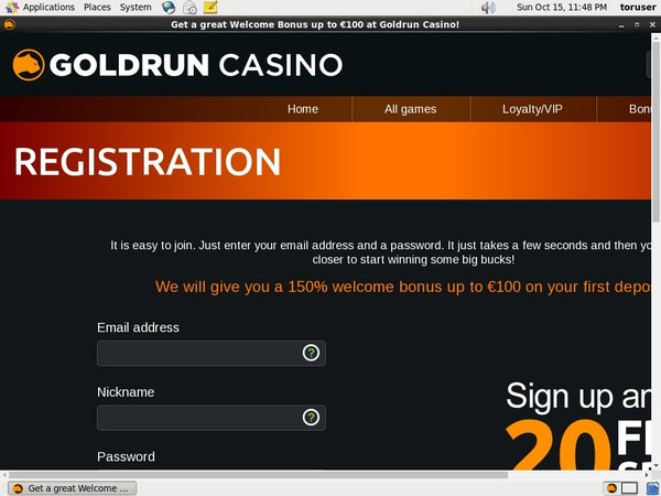 Gold Run Casino 1st Deposit Bonus