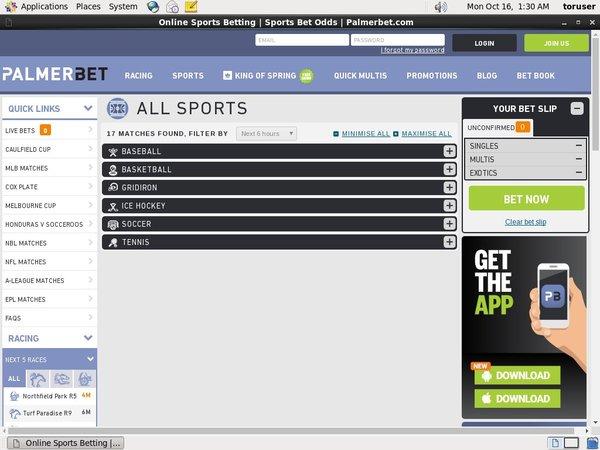 PalmerBet Sports Top Bets