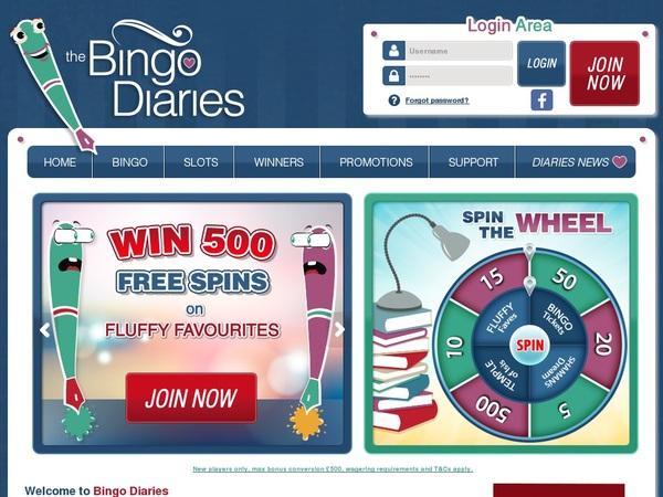 Become Bingo Diaries Member