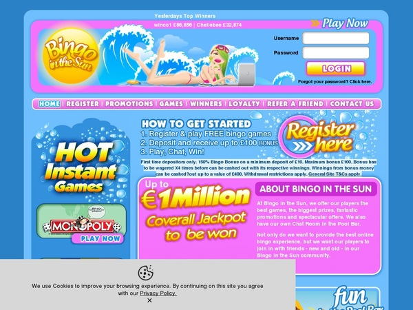 Bingo In The Sun New Online Slots