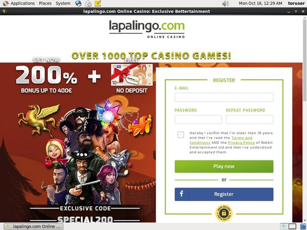 Lapalingo New Customer Bonus