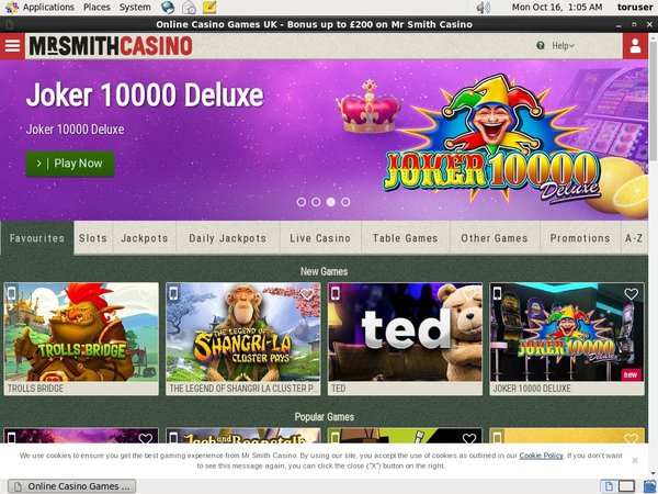 Mr Smith Casino Free Spins