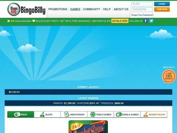 Bingobilly New Customer