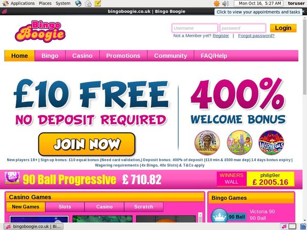 Deposit Paypal Bingo Boogie