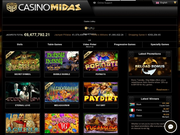 Does Casino Midas Accept Paypal
