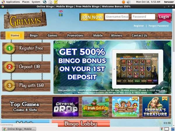 Grimms Pounds No Deposit