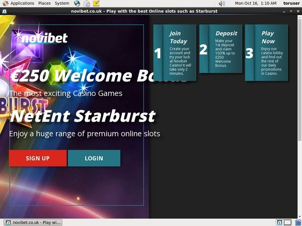 Sign Up Novibet