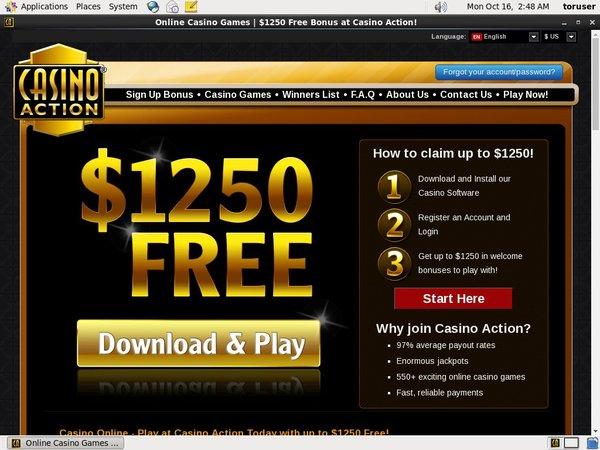 Casinoaction Free Bet Code