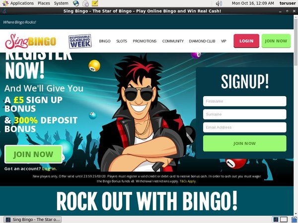 Free Singbingo Account