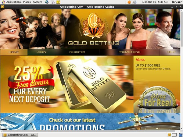 Gold Betting Casino Bonus Code