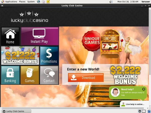 Lucky Club Casino Discover Card