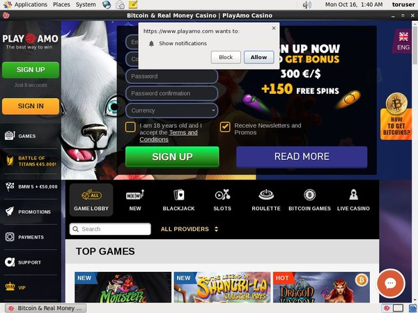 Play Amo Casino Mobile