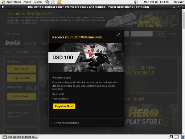 Bwin Create New Account