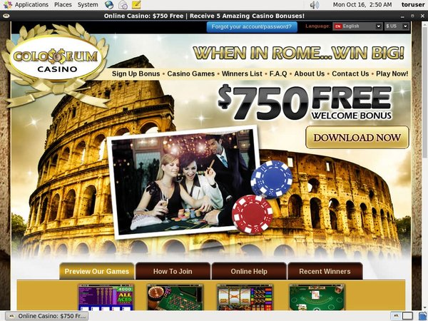 Colosseum Casino How To Sign Up