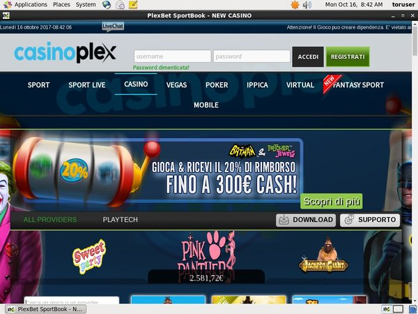 Login To CasinoPlex