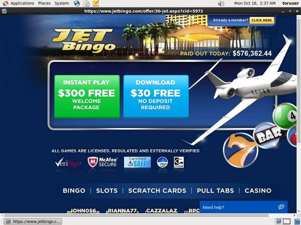 Jet Bingo No Credit Card
