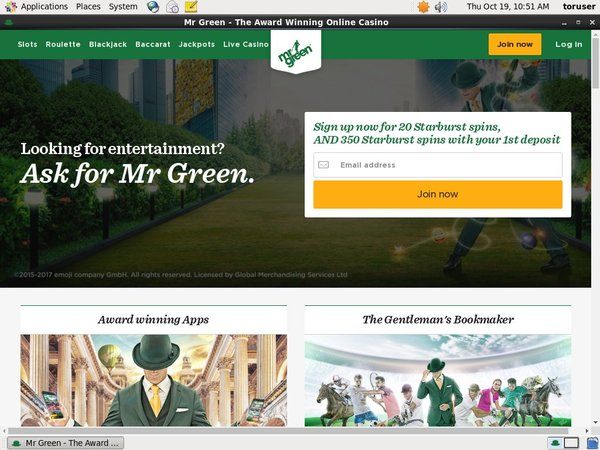 Mr Green Promotion Code