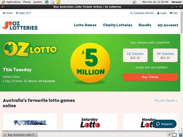 Ozlotteries Best Deposit Bonus