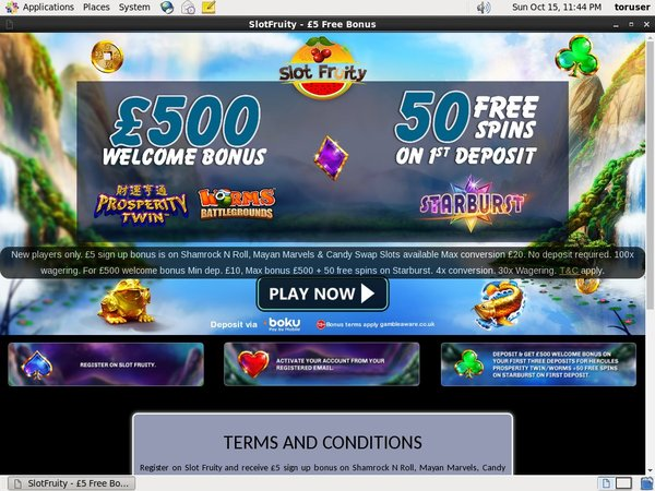 Slot Fruity American Express